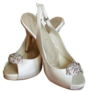 Angela Nuran Vintage Inspired Dancers Satin Ivory Formal