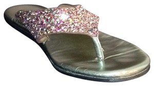 Donald J. Pliner Embellished Pink sparkle Sandals