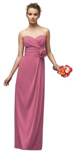 Lela Rose Strapless Full Length Chiffon Dress