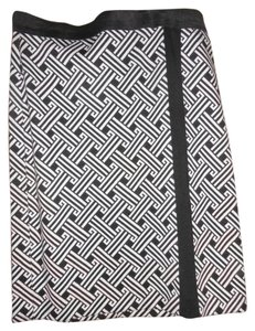 Premise Fitted A-line Pencil Skirt Black/White