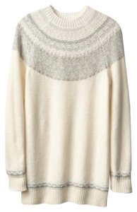 Gap Maternity Reverse Fair Isle Tunic Sweater