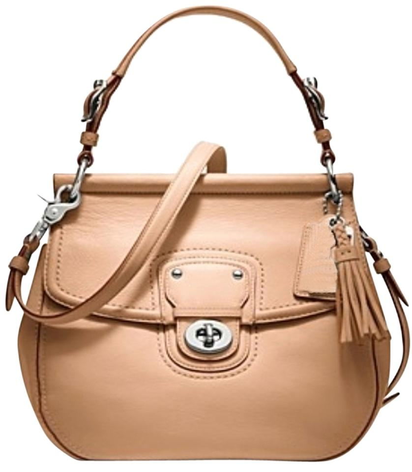 da854b635e Coach Willis 19132 Dowel Top Convertible Shoulder Beige - Natural Vachetta  Leather Cross Body Bag