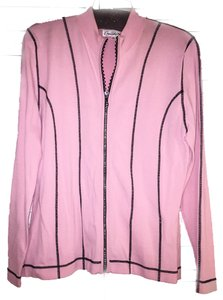 Bellini Top Pink with Black trim with stones