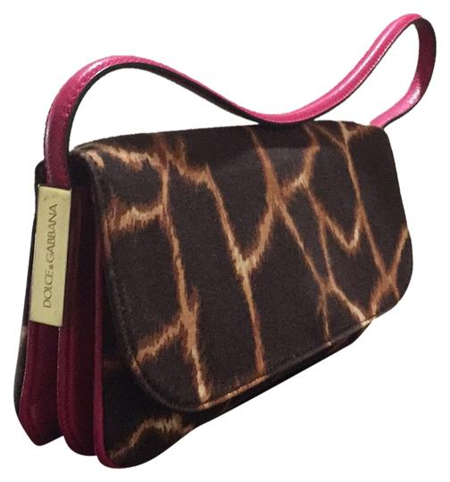 Dolce&Gabbana Brown & hotPink Clutch