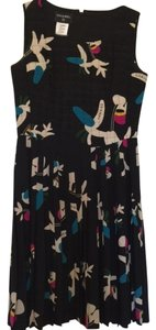 Chanel short dress Black/White Teal Floral on Tradesy