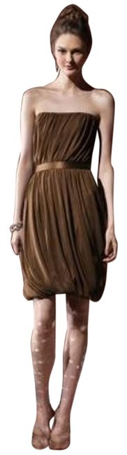 Item - Brown 8108 Mid-length Night Out Dress Size 6 (S)
