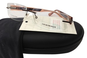 Emporio Armani NEW EMPORIO ARMANI EA9655 COLOR LZP BROWN RIMLESS METAL EYEGLASSES FRAME ITALY