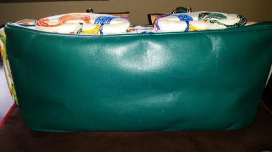 Coach Satchel in Multi with turquoise lining