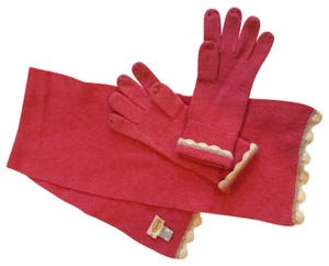 Talbots Pink Scarf & gloves by Talbots