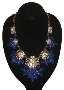 BLUE AND GOLD CRYSTAL NECKLACE