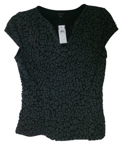 Ann Taylor Top Black and gray