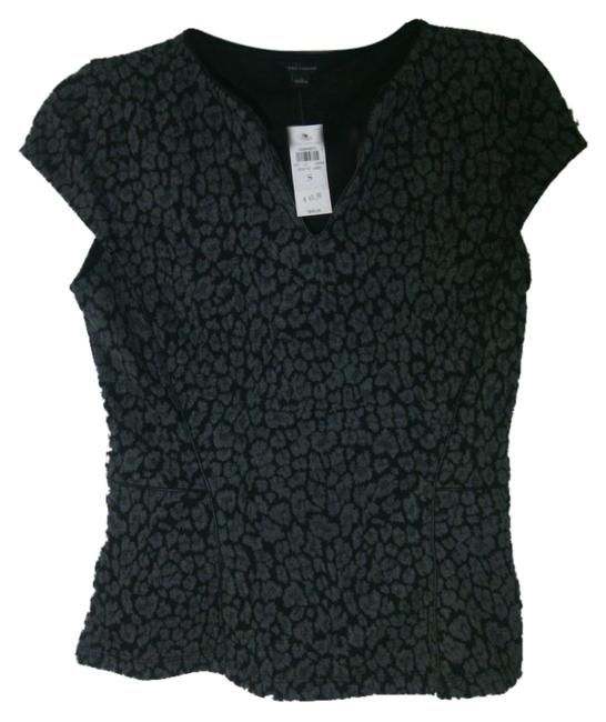 Preload https://img-static.tradesy.com/item/8925838/ann-taylor-black-and-gray-perfect-stretch-cotton-shirt-with-leather-trim-night-out-top-size-4-s-0-1-650-650.jpg