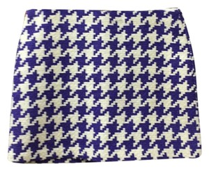United Colors of Benetton Mini Skirt Purple and white
