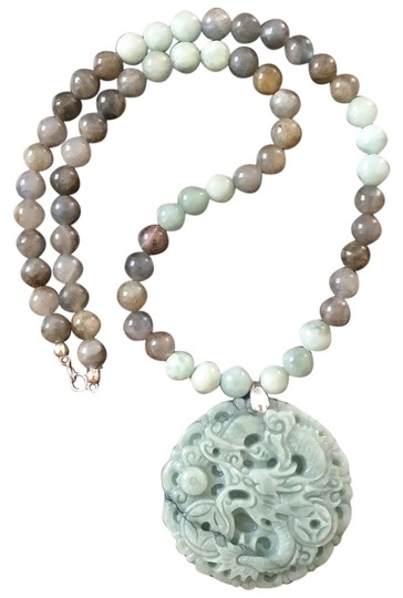 Preload https://img-static.tradesy.com/item/8926027/sterling-silver-natural-jadelabradorite-necklace-0-2-540-540.jpg