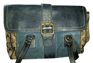 Coach Satchel in Blue and tan