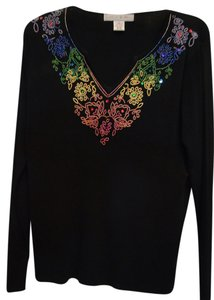 Lucia Burns T Shirt Black Multi