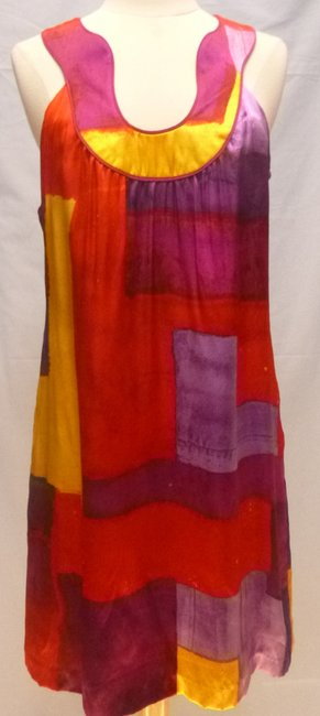 Laundry by Shelli Segal short dress multi Tunic Vibrant Silk Sleeveless on Tradesy