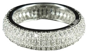 Ladies Sterling Silver Lab Diamond Eternity Ring Band 925 Wedding Promise Gift