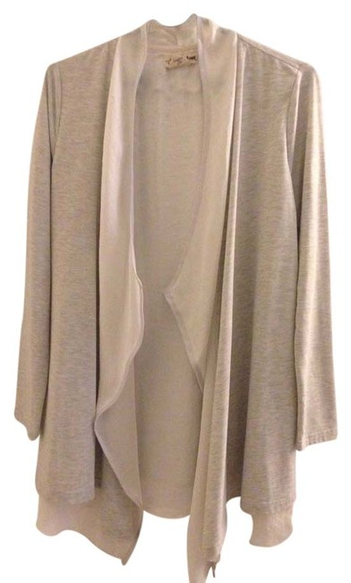 Item - Grey and White Poncho/Cape Size 6 (S)
