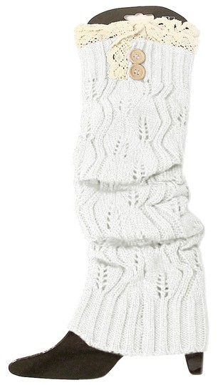 Preload https://img-static.tradesy.com/item/8926984/white-and-beige-sweater-knitted-lace-top-button-down-leg-warmer-boot-boot-topper-socks-0-1-540-540.jpg