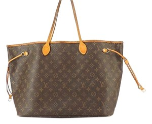 Louis Vuitton Neverfull Jumbo Lv Tote in Brown