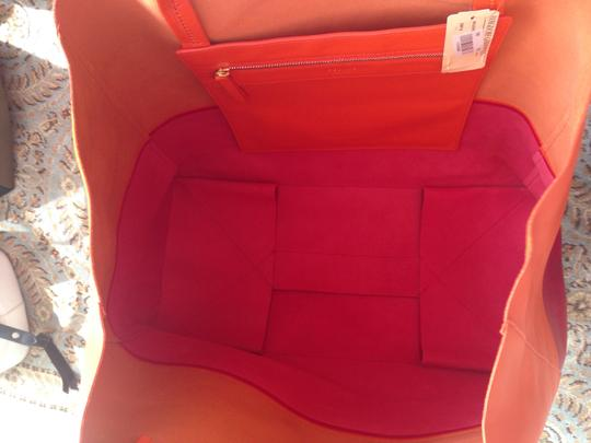 Céline Tote in Orange/Fuchsia