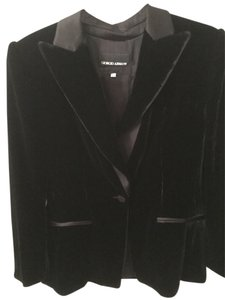 Giorgio Armani Couture Evening Silk Velvet Black Blazer
