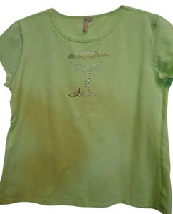 Susan Lawrence T Shirt Lime Greeen