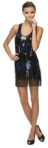 Max Studio Little Sequin Sparkle Evening Above The Knee Tank Sleeveless Dress