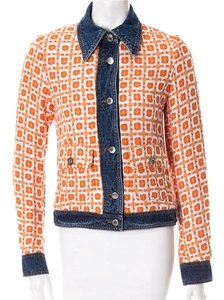 Dolce&Gabbana Orange Womens Jean Jacket