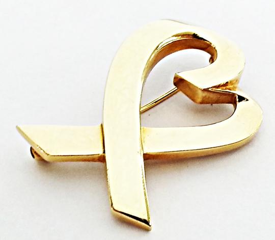 Tiffany & Co. Tiffany & Co Paloma Picasso 18 Karat(750) Yellow Gold Heart Pin Brooch