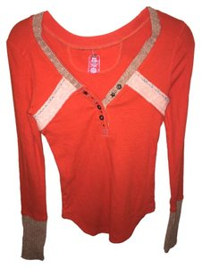 Free People Thermal T Shirt orange