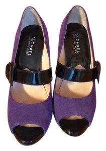 Michael Kors Purple and black Platforms