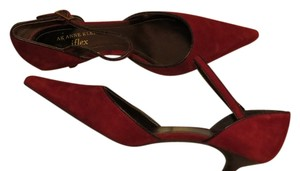 AK Anne Klein Ankle Strap 3 REDDISH Pumps