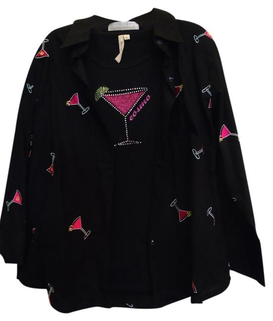 Other Top Black with Hot Pink
