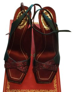 Rene Caovilla Burgundy/green Pumps