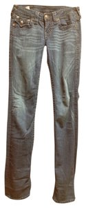 True Religion Rare Tonal Stitching Straight Leg Jeans