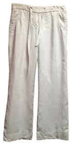 J.Crew Linen Drawstring Summer Beach Relaxed Pants Dove Grey