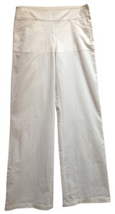 Max Studio Summer Pant Side Zip Relaxed Pants White