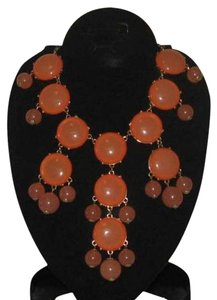 Other ORANGE STONE CHAIN NECKLACE