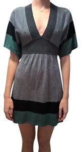 H&M short dress Grey, Black and Green on Tradesy