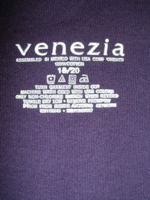 Venezia by Lane Bryant T Shirt Royal Purple with Red Design 18/20