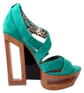 Jessica Simpson Teal Wedges