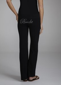 David's Bridal Black Bride Rhinestone Ring Yoga Pants Style Size Medium