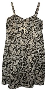 R&K Originals short dress Brown & Eggshell Floral Print size 20 on Tradesy