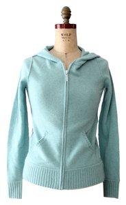 Margaret O'Leary Cashmere Hooded Zip Up Zipper Cardigan