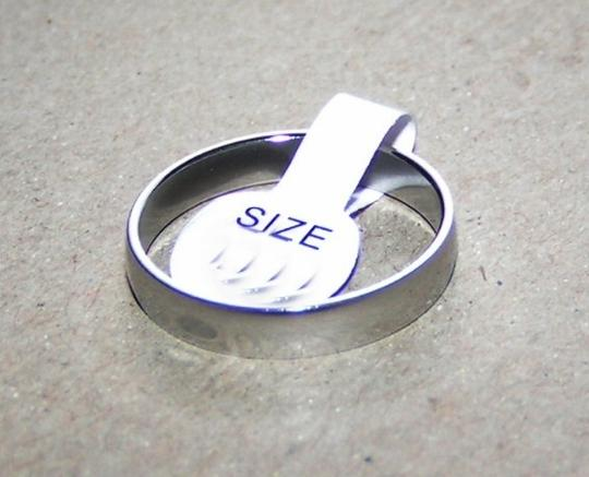 Silver Bogo Free Stainless Steel Unisex Ring Free Shipping Men's Wedding Band