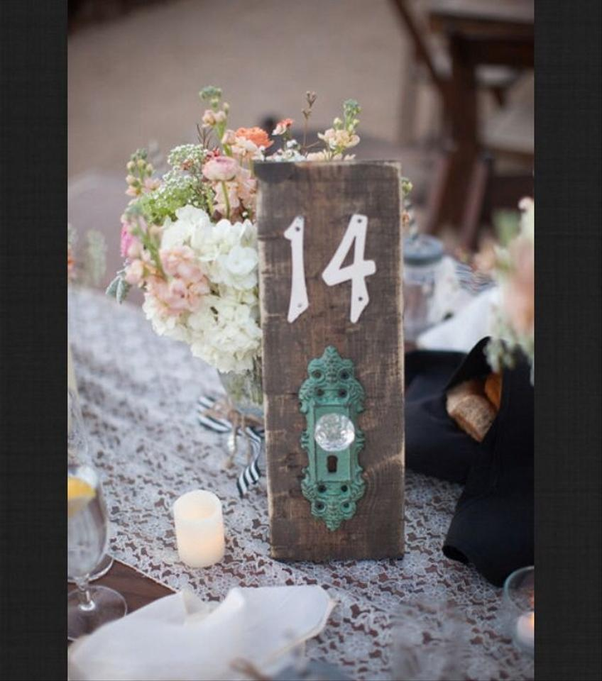 Used Shabby Chic Wedding Decorations : Shabby chic table numbers tradesy weddings
