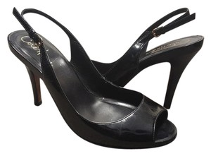 Cole Haan Heels Patent Leather Slingback Patent Leather Heels black Pumps