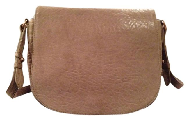 Item - Lia Nude Taupe Neutral Leather Messenger Bag